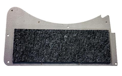 Revestimiento lateral con componente acústico en fibra de madera